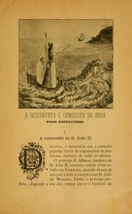 Ilustração de miolo do livro A descoberta e conquista da India pelos Portuguezes, Lisboa, João Romano Torres & C.ª, 1898, p. 9.
