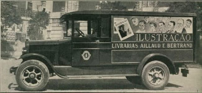 rt site livrarias aillaud e bertrand (camionete de venda da revista ilustração)